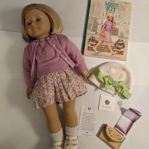 Kit Kittredge American Girl Doll w/ 3 outfits MINT